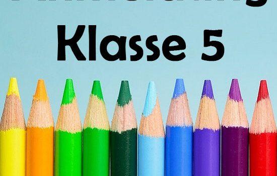 Anmeldung Klasse 5